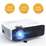 Apeman Beamer, Mini LCD tragbarer Beamer, 3500 Lumen, unterstützt 1080p Full HD, 50000 Stunden,...