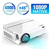 ABOX 4000 Lumen Beamer, Native 1080p (1920 x 1080) LED...