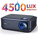 Video Beamer 50000 Stunden, unterstützt 1080P Full HD Heimkino Beamer,4500 Lumen LCD LED Projektor...