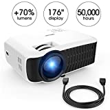 Beamer, DBPOWER T22 2400 Lumens LCD Mini Projektor Multimedia Heimkino Video Projektor Unterstützt...