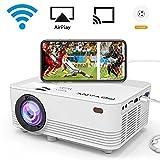 [WIFI Beamer] POYANK 2000 Lumen LCD Beamer, drahtlose und verkabelte Verbindung mit Smartphone...