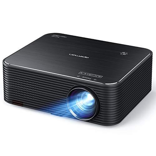 Native 1080P Beamer, APEMAN Full HD Projektor, 300 ' LED Display Unterstützt 4K Video, ±25° 4D...