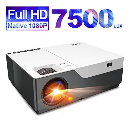 Beamer Full HD - Artlii Stone 1080P Native Beamer 4K Unterstützt 7500 Lumen mit 300' und Zoom Ideal...