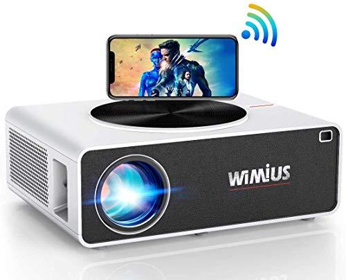 "5G WiFi Beamer, WiMiUS 7500 1080P Full HD Beamer Unterstützung 4K Led Video Beamer 300"" Display..."