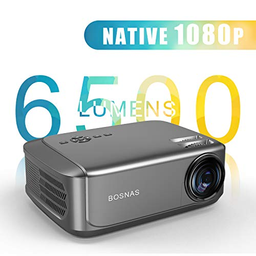 Beamer 6500 Lumen, Native 1080p Beamer Full HD,Video Projektoren für Office Powerpoint...