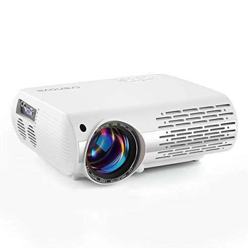 Beamer, 5000 Lux Video Projektor Full HD Crenova XPE660 unterstützt 1080P Heimkino led Beamer ,...
