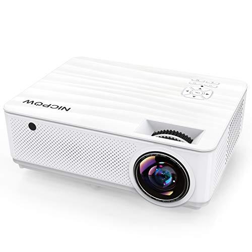 Beamer 7500 Lumen, Beamer Full HD Native 1080P Heimkino Beamer mit 300'' Display und ±40°...