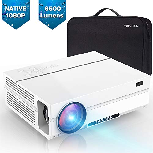 TOPVISION Heimkino Beamer, 6500 Lumen Video Projektor with...