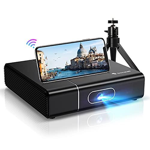 WiFi Bluetooth Beamer, Bonsaii 1080P Full HD 3D Unterstützt...
