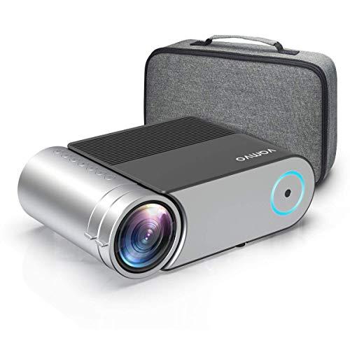 Beamer, Vamvo Mini Beamer Full HD 4000 Lumens, Projektor 1280*720P mit Tragetasche unterstützt...