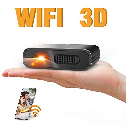 Artlii Mana Mini Beamer - WiFi Beamer DLP BeamerUnterstützt 3Dund 1080PEingebaute 5200mAh...