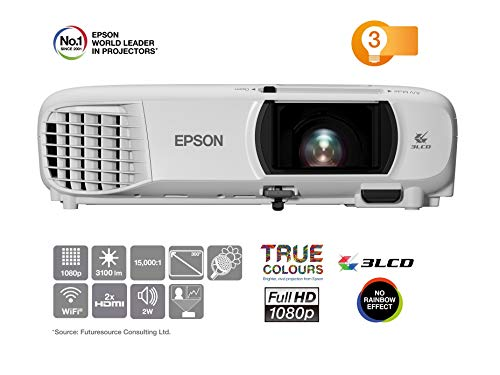 Epson EH-TW650 3LCD-Projektor (Full HD, 3100 Lumen, 15.000:1...