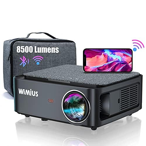Beamer, Full HD 1080P 8500 Lumen Beamer 5G WiFi Bluetooth Beamer Unterstützung 4K Video, LED...