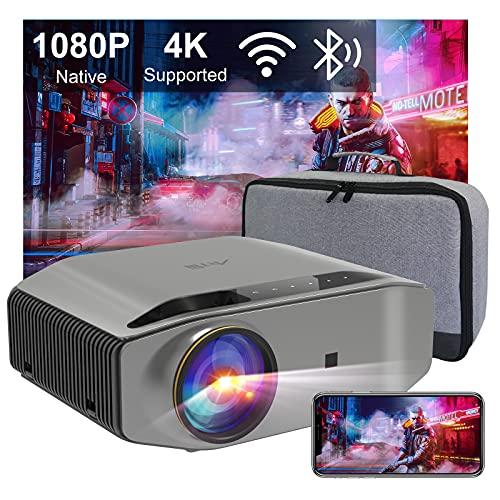 Beamer Full HD WLAN Bluetooth - Artlii Energon2 5.0G WiFi Beamer 9000 Lumens Native 1080P Beamer...