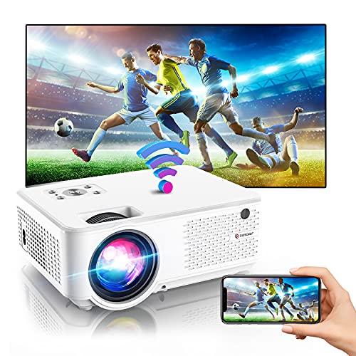 BOMAKER Mini Beamer 4K, 7000 Full HD WiFi Beamer, 1280P Support, mit 300'' Display 90.000 Stunden,...