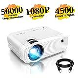 """Mini Beamer, ELEPHAS 4500 Lumen Tragbarer LED Projektor, unterstützt 1080P, Max 180 """"Display,..."""