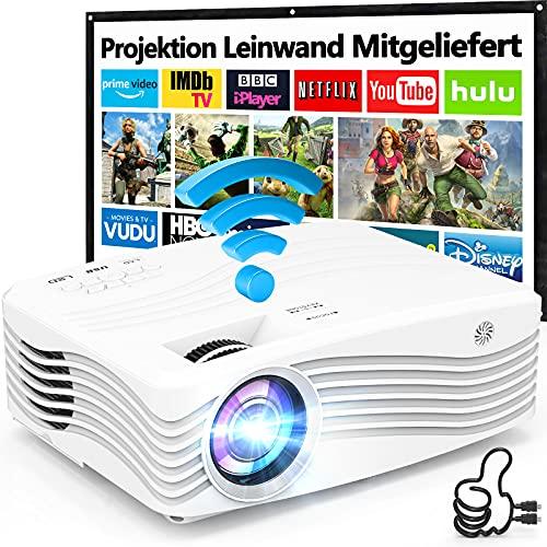8500L Native 1080P Full HD WiFi Beamer [Mit 120″ Screen], Full HD 5G Wireless Beamer Unterstützt...