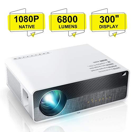 Beamer, ELEPHAS [Native 1080P] Full HD 6800 Lumen 300' LCD Projektor, für Film Unterhaltung Spiele,...