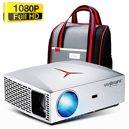 VIVIBRIGHT F40 Full HD Beamer, Native 1080P Projektor, Video...