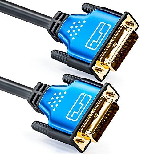 deleyCON 10m DVI Kabel Adapterkabel - DVI-D 24+1 Dual Link...
