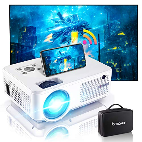 Bomaker mini Beamer C9, 7000 Full HD 1280P Support, 4K wifi Heimkino Beamer mit 300'' Display 90.000...