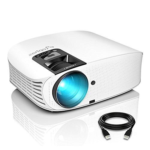 Beamer, ELEPHAS 8000 Lumen Heimkino Video Beamer 1080P Full HD, 230' LCD Projector kompatibel mit TV...