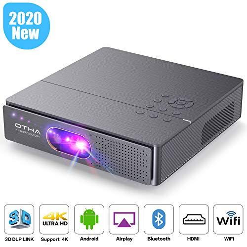Mini Beamer, OTHA 3D DLP Beamer 3000 Lumens Heimkino Projektor 300' Display, Unterstützung 1080P/4K...