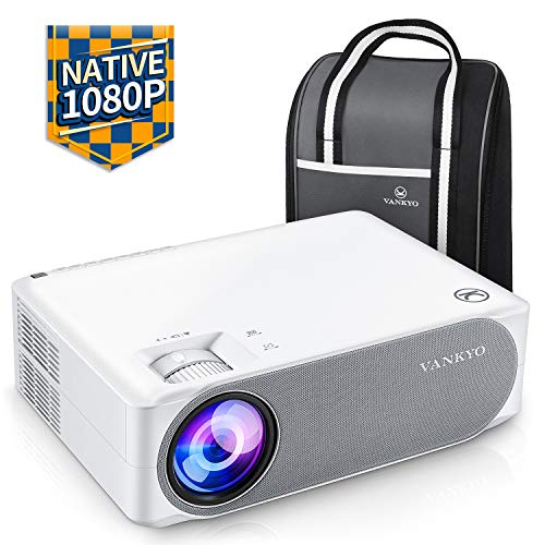 Beamer 6800 Lumen, Native 1080p Beamer Full HD, VANKYO Performance V630 Beamer Heimkino, mit...